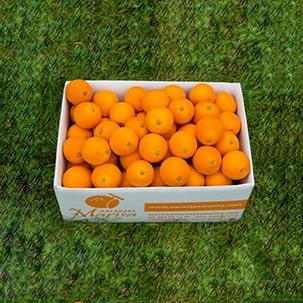Caja de naranjas para mesa