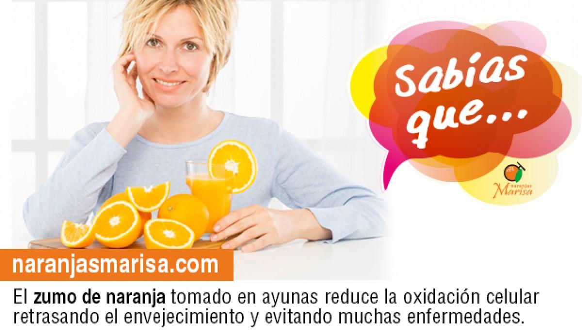Zumo de naranja reduce el envejecimiento
