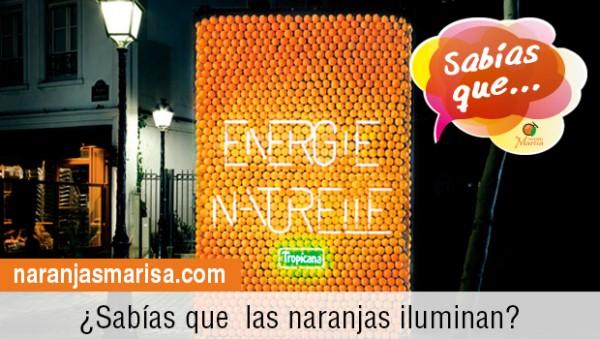 Las Naranjas generan luz