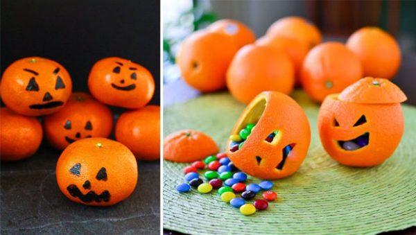 Este Halloween naranjas como decoración y como snack