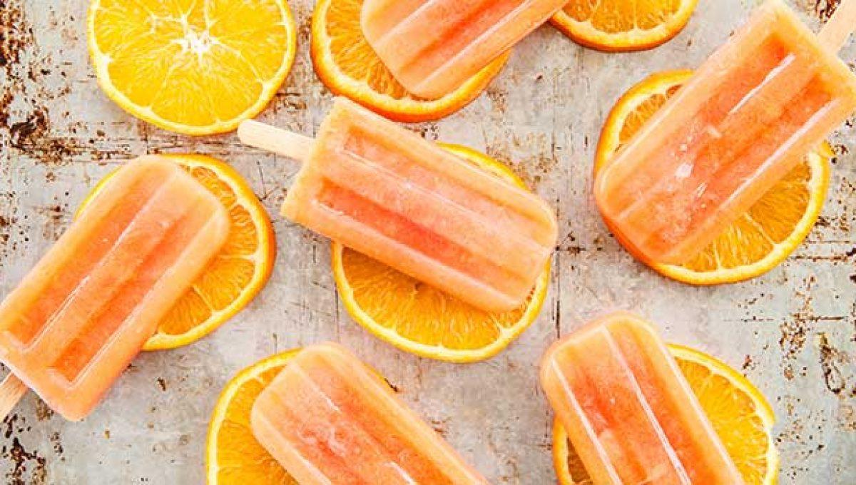 Helados de naranja, alarga la temporada de naranjas.