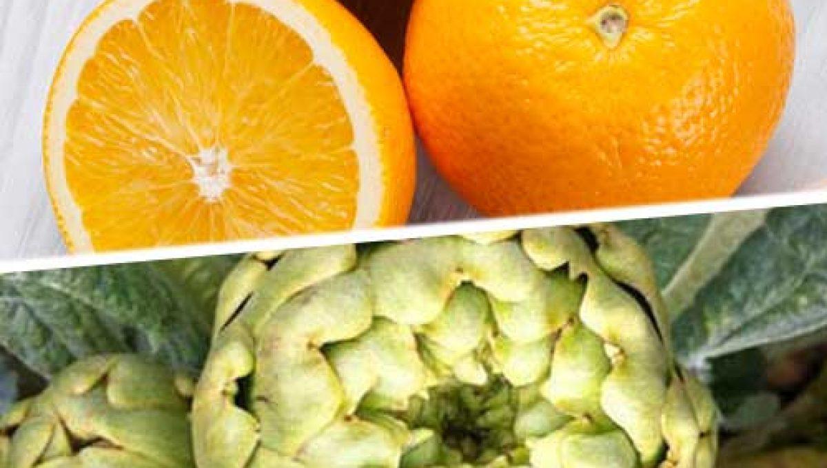 Caja de Naranjas y Alcachofas. Agotado