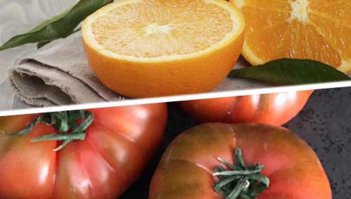 Caja de Naranjas y tomates Raf. Agotado