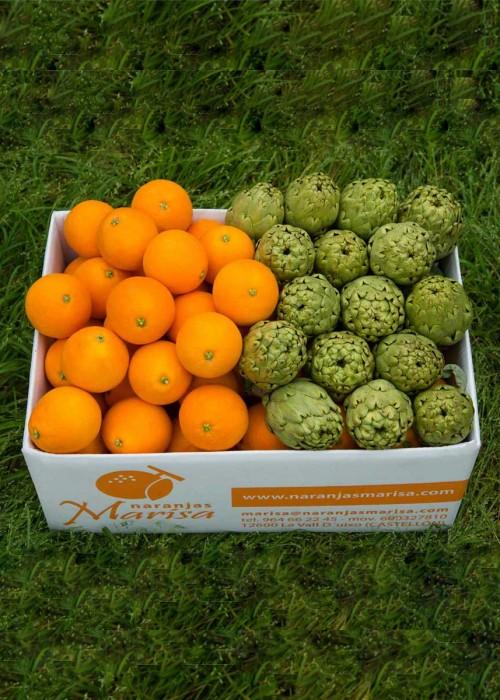 Caja de Naranjas y Alcachofas 15kg.