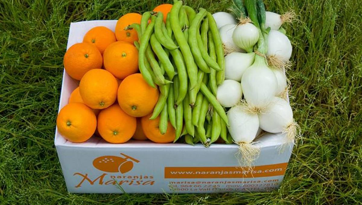 Caja de 10 kg.-15kg. de Naranjas, Cebollas y Habas. Agotado
