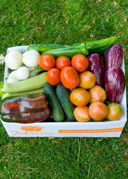 Caja de de verduras. Pdto. Estrella