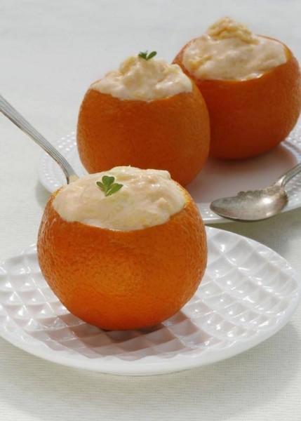 Crema helada de naranja